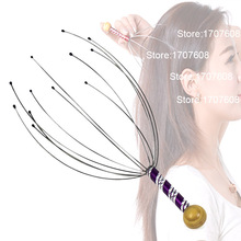 Practical Head Scalp Neck Massage Relaxation Release Stress Claw Massager Flexible Stainless Steel Fingers(China)