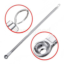 New 2 in1 Pro Silver Blackhead Comedone Remover Acne Blemish Pimple Extractor Tool  Length 12.6cm