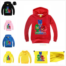 New Chidlren girl's 2017 Spring Autumn Hoodies Sweatshirts coat girls autumn kids Long sleeves masks t-shirt Sport TOP