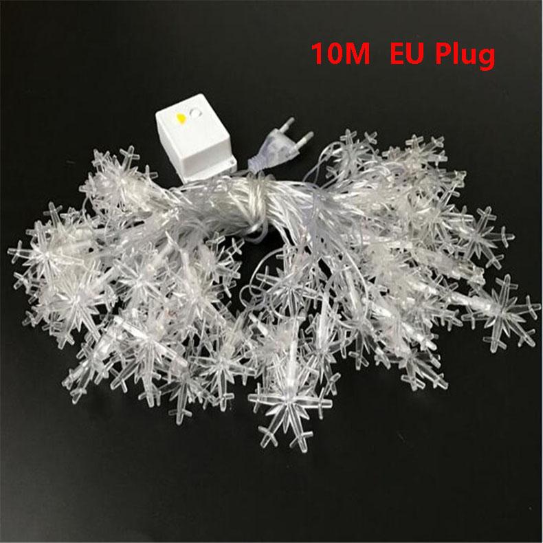 10M 100Leds 2V Christmas Tree Snow Flakes Led String Fairy Light Xmas Party Home Wedding Garden Garland Christmas Decorations 4
