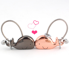 Milesi 3D Whale Key Ring for Lovers Gift Bag Pendant Couples Key Trinket Key Chains Car KeyChain Chaveiro Innovative Items K0178