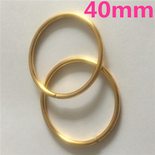 50pcs 40mm Gold Metal Iron O Rings of leather Garment Bags Scarf Accessory Cast High Quality Carft Strap Round DIY(China)