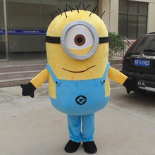 Hot Sale 2015 NEW ARRIVE Minions Mascot Costume Adult Character Costume Cosplay mascot costume(All Five Minions) Free Shipping