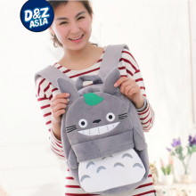 Plush cartoon children shoulder bag totoro backpack for kids baby boys and girls plush toy backpack(China)