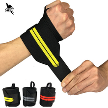 1PC Adjustable Wristband Elastic Wrist Wraps Bandages for Weightlifting Powerlifting Breathable Wrist Band Support Sports Safety(China)