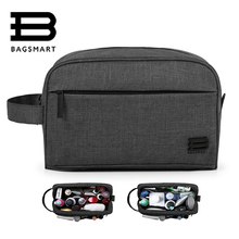 BAGSMART Unisex Travel Toiletry Bag Waterproof Toiletry Kit Potable Dopp Kit Large Capacity Cosmetice Bags For Packing Make Up(China)