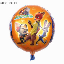 GOGO PAITY  Free Shipping 18 inch cartoon ball crazy animal city aluminum balloon ball children's toys wholesale