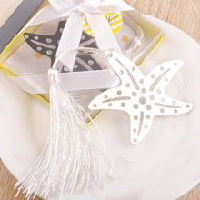 wedding beach themed events favor party gift and giveaways for guest Book Lovers Collection Starfish Bookmarks 100pcs/lot