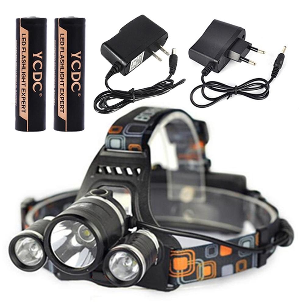 TSLEEN 6Pcs/Lot 5000lm cree xml t6+r2 led head torches fishing light bike racing headlight<br><br>Aliexpress