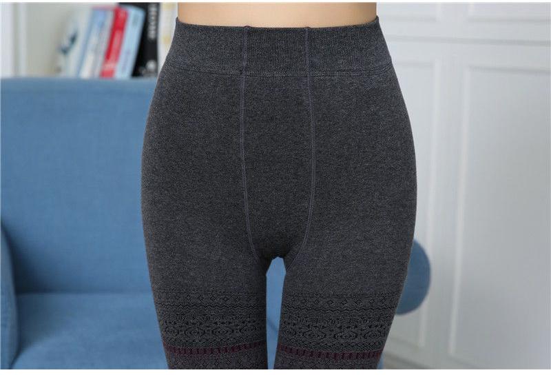 Winter Leggings, Women's High Waist Warm Leggings 12