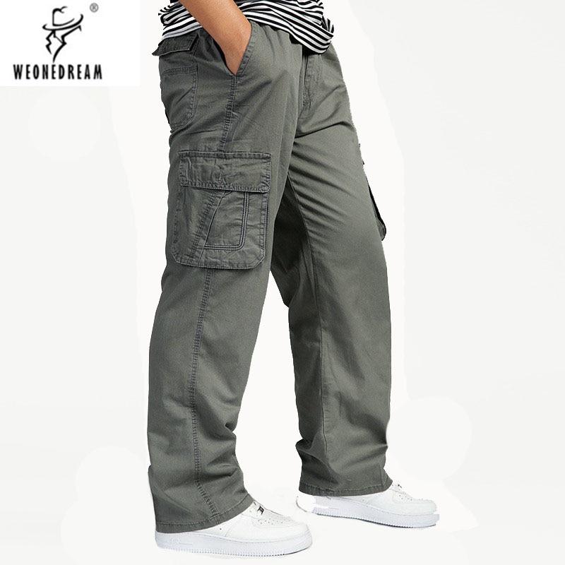 WEONEDREAM Men's Pants Men's Cargo Pants Fashion Casual Loose Trousers Plus  Size 5XL 6XL Pants for