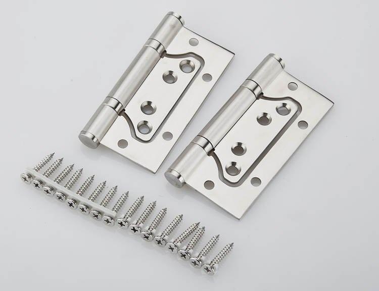 1Pair 4 Stainless Steel Door Hinges Picture-in Hinges Heavy Duty Hinges New<br>