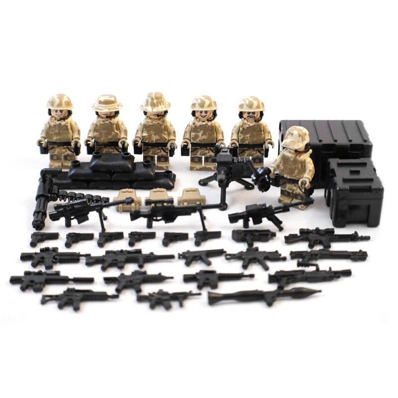 MOC Rare Falcon Commandos Counter-Terrorism Minifigure Military Army Desert War Weapon Figure Building Toy Compatible With Legoe<br><br>Aliexpress
