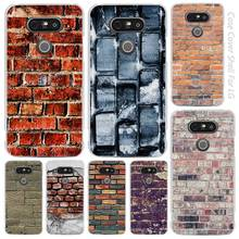Brick pattern Clear Cell Phone Case Cover Shell for LG K3 K4 K8 K10 G3 G4 G5 G6 2017 V10 V20 K5 stylus3