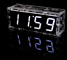 electronic diy kit Digital clock DIY making kit 51 Single chip with case