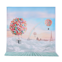 Andoer 1.5*2m Photography Background Ballons Rainbow Blue Sky Pattern Photo Studio Backdrop for Children Kids Portrait Shooting(China)