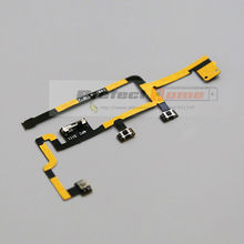 10 pcs/lot for iPad 2 CDMA Version Good Quality Power On Off Mute Volume Button Flex Cable Replacement