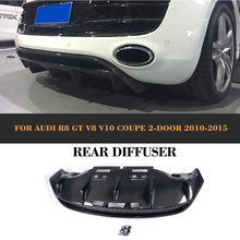 Carbon Fiber Auto Rear Bumper Lip Diffuser for Audi R8 GT V8 V10 2 Door 2010-2015 Convertible Replacement style(China)