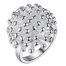 dandelion flower Wholesale 925 jewelry silver plated ring ,fashion jewelry Ring for Women, /VXLPQOVN HPFNHLJG(China)