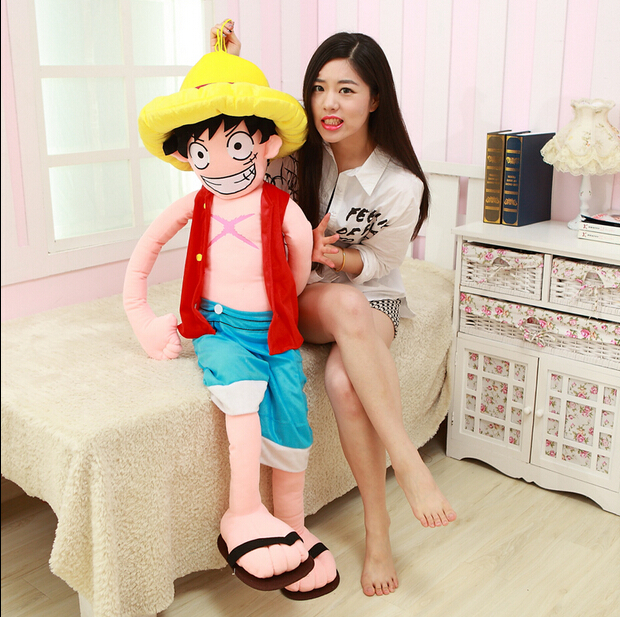 Selling Item 1pcs 80cm Cartoon Suffed Doll Monkey D Luffy Japan Anime Toy ,Kawaii Plush Toy For Kids<br><br>Aliexpress
