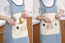 1PCS Korean Style The Little  Bear Sample Hot Sleeveless High Quality Clothes Kitchen Apron For Woman Cooking  for kitchen Wear