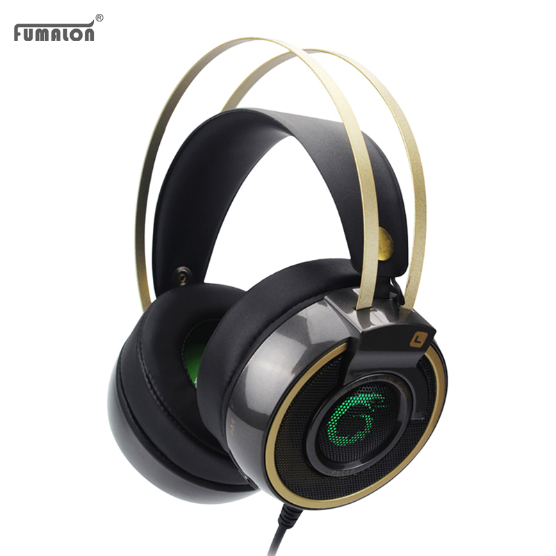 Fumalon Gaming Headset Shock LED Bass Sound Earphone 2.0m Wired Headphone Voice control with Microphone for Computer gaming<br><br>Aliexpress