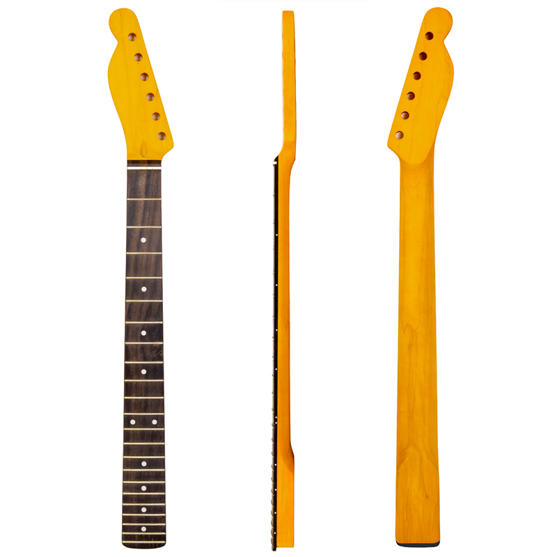 Lefty Left Handed Maple Guitar Neck Rosewood Fingerboard For Electric Guitar Neck Replacement Yellow 22 Frets<br>