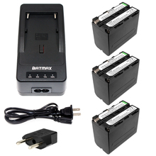 Batmax 3pcs NP-F970 F970 NP-F960 Rechargeable Battery+1Quick Rapid Charger for SONY MVC-FD90 FD91 FD92 HVR-HD1000 F975 F970 F960