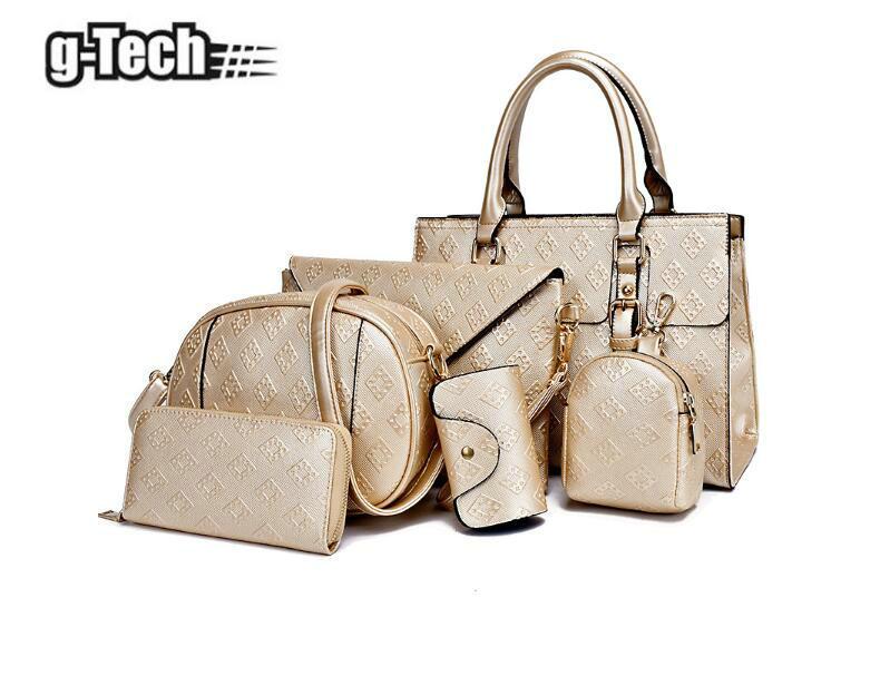 Famous Brand Women Bag Top-Handle Bags 2017 Fashion Women Shoulder Messenger Bags Female 6 Set Composite PU Leather Handbag<br>