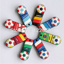 Bestselling16gb 32gb 64gb USB Flash Drive 2014 world cup team 5% off Pen Drive Memory Stick Drives USB creativo S336(China)