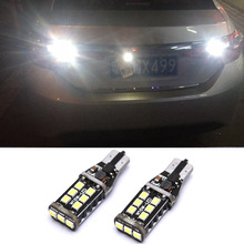 2X Canbus T15 W16W 2835 SMD 15 LED 15W Car Backup Reverse High Stop Light White Rear Lamp Bulb for Toyota Corolla Camry Prado