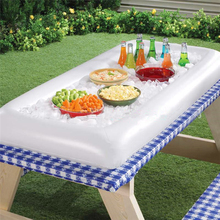 Inflatable Serving Bar Cooler Buffet Salad Food Drink Tray Ice Cooler Picnic Drink Table For Party Picnic Storage Trays YL971047(China)