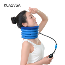 KLASVSA Cervical Neck Traction Neck Pillow Massager Magic Air Cushion Tight Muscles Headaches Tension Head Shoulder Stiffness(China)