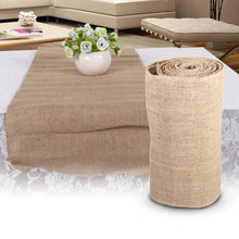 1 Roll Jute Burlap Hessian Table Runner 30cm x 910cm Vintage Event Party Supplies Lace Table Runner for Wedding Accessories