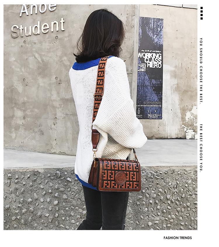 2019 Of The Small Square Fashion Women's vintage Shoulder Bag Shoulder Bag Messenger Bag Mobile Phone Bag Brand original design 24 Online shopping Bangladesh