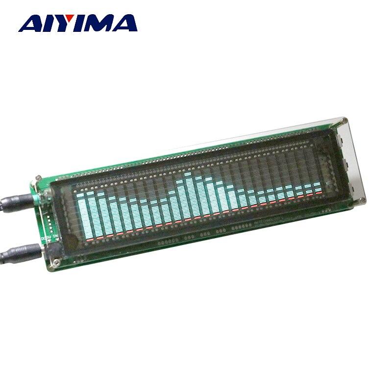 Aiyima 15 Level VFD Music Audio Spectrum indicator Amplifier Board Level indicator VU Meter Speed Adjustable AGC Mode With Case <br>