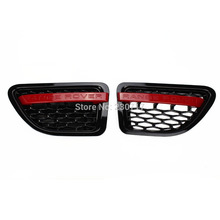 Black Red GRILLE RANGE ROVER SPORT Wing SIDE VENT AIR for LAND ROVER 06-09(China)