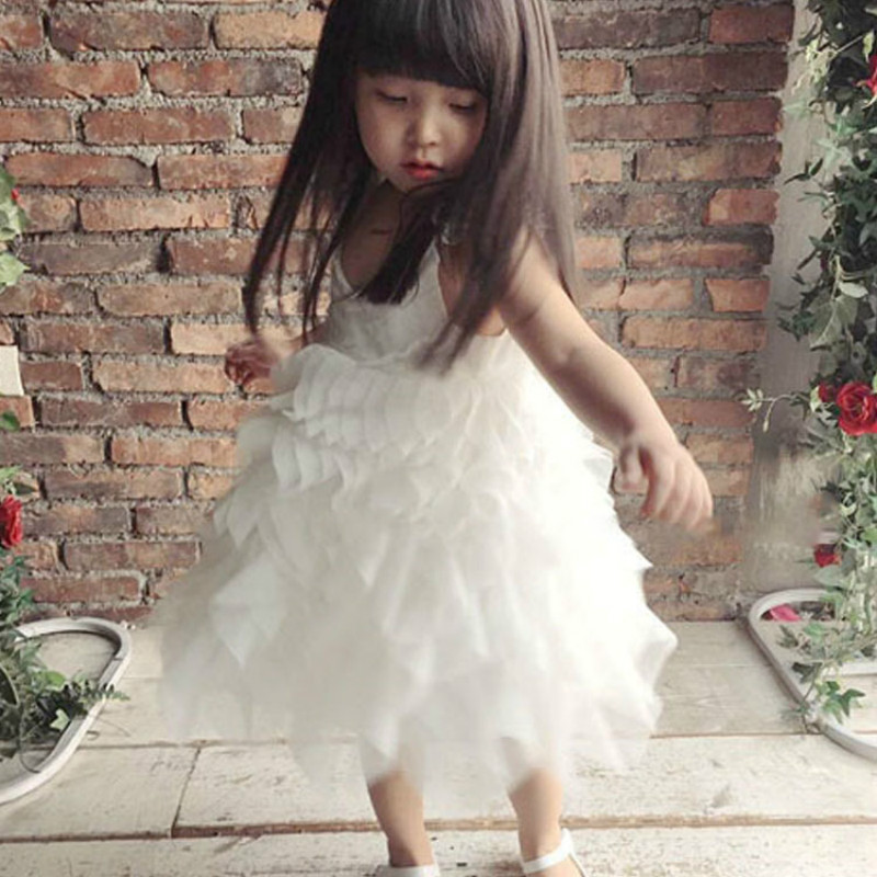 Girls Summer Mesh Dress 2017 New Fashion Autumn Winter Kids Clothes Casual Sleeveless Patchwork Wedding Party Dresses Ball Gown<br>