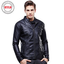 HTLB new brand men leather jacket top quality male autumn winter leather jacket male fashion leather coat men 8627