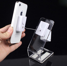 Phone display L acrylic shelf display stand phone holder magnetic adhesive Anti-theft system phone rack(China)