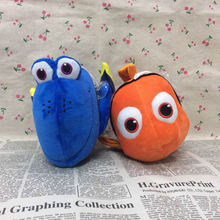 Free Shipping 1set Movie Finding Nemo plush toys, 24cm Nemo Fish + 20cm Dory Fish Stuffed Animal Plush Soft Doll for baby gift