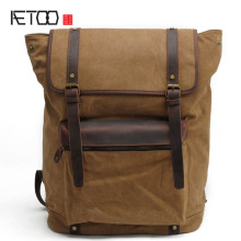 AETOO Europe and the United States men's shoulder bag canvas business Korean casual bags men's backpack computer bags  travel b