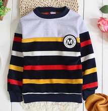 (1piece /lot)  cotton 2016 winter Warm Sweater (90-150cm)1-9year old baby boy sport Sweaters