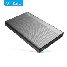 VINSIC Power Bank with TYPE-C Interface for iphone X 7 8 plus Samsuang S8 edge mobile phone charger portable smartphone adapter(China)