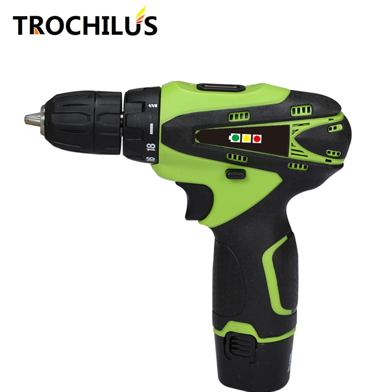 12V miniature electric drill Multi-function electric screwdriver Cordless screwdriver with lithium battery mini electric tool<br>