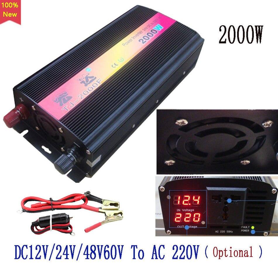 High power 1000Watt Universal 2000W peak Power Inverter DC 12V/24V/48V/60V to AC 220V Voltage Converter Transformer best quality<br><br>Aliexpress