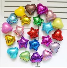 Buy 100pcs/lot 5inch colorful heart star foil balloons birthday wedding party decoration Pure color helium ballons air globos suppie for $8.09 in AliExpress store