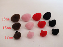 50pcs 12mm/15mm/18mm Safety Noses For Teddy Bear Free Shipping(China)
