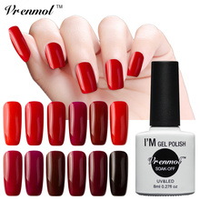 Vrenmol UV Led Nail Polish Dark Red Color Series Nail Gel Lacquer Soak Off Healthy Eco-friendly Nail Gel Art Salon(China)