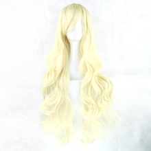 Soowee 20 Colors Curly Hairpiece High Temperature Fiber Synthetic Hair Blonde Golden Women Party Hair Cosplay Wigs